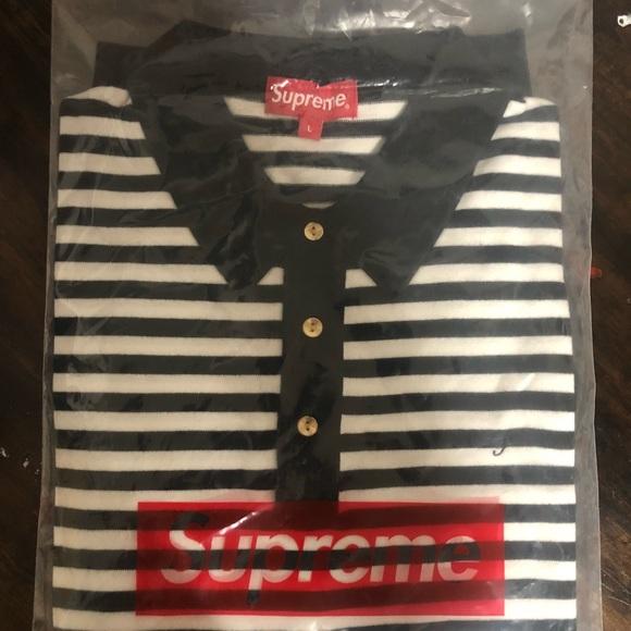 03300f2c1e Supreme Shirts | Striped Knit Polo | Poshmark